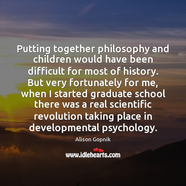 Image, Putting together philosophy and children would have been difficult for most of