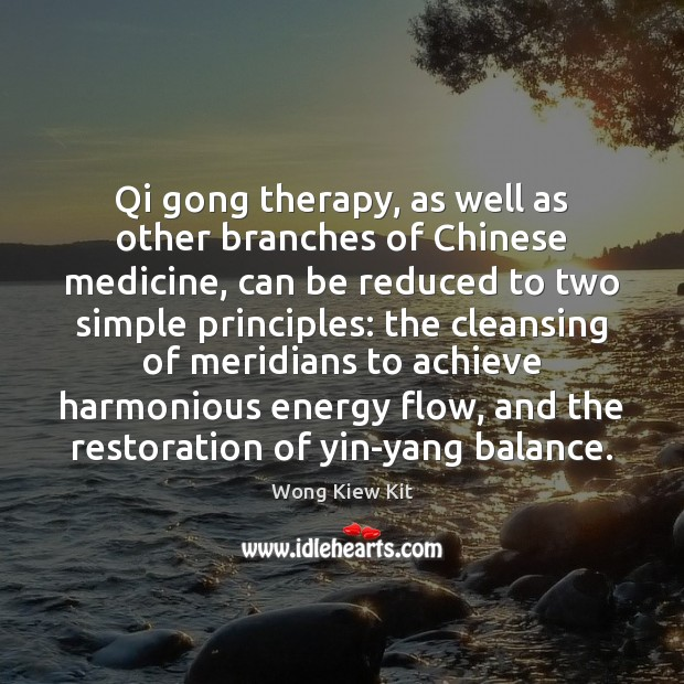 Image, Qi gong therapy, as well as other branches of Chinese medicine, can