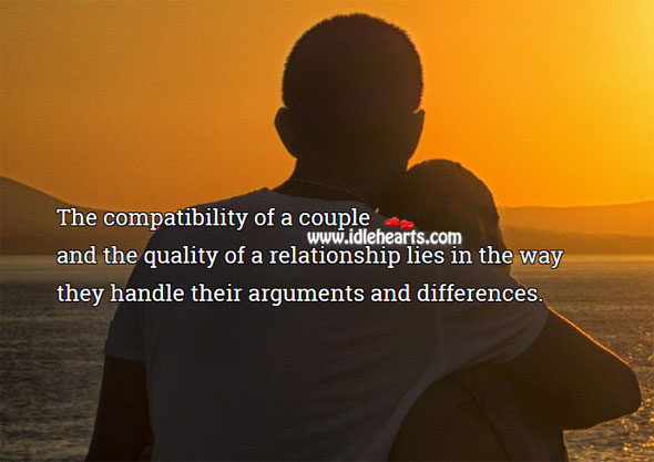 The quality of a relationship lies in the way we handle arguments Image