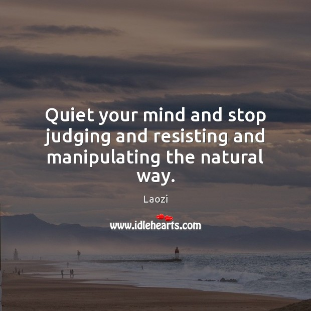 Image, Quiet your mind and stop judging and resisting and manipulating the natural way.