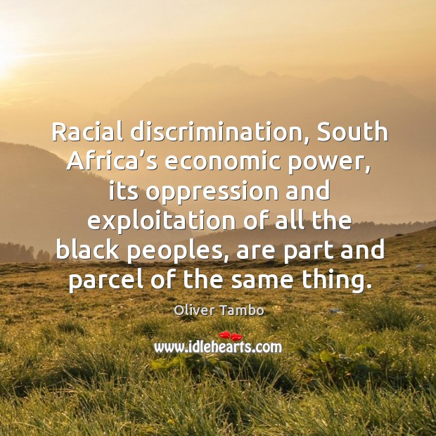 moral discrimination in south africa