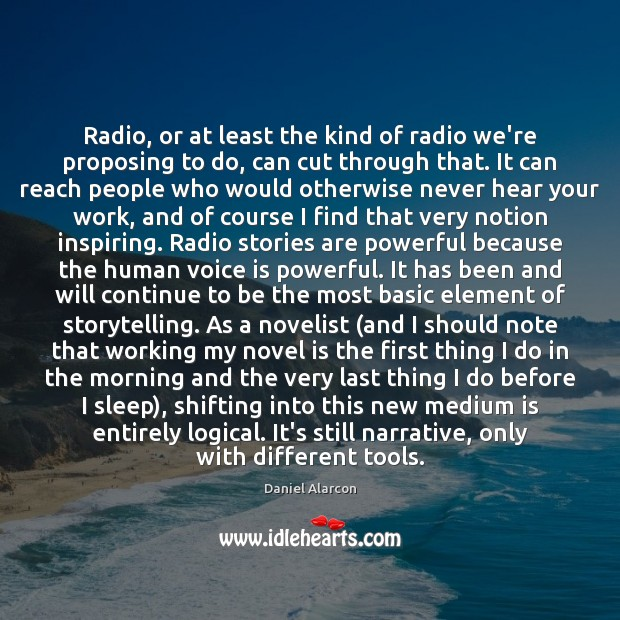 Radio, or at least the kind of radio we're proposing to do, Image