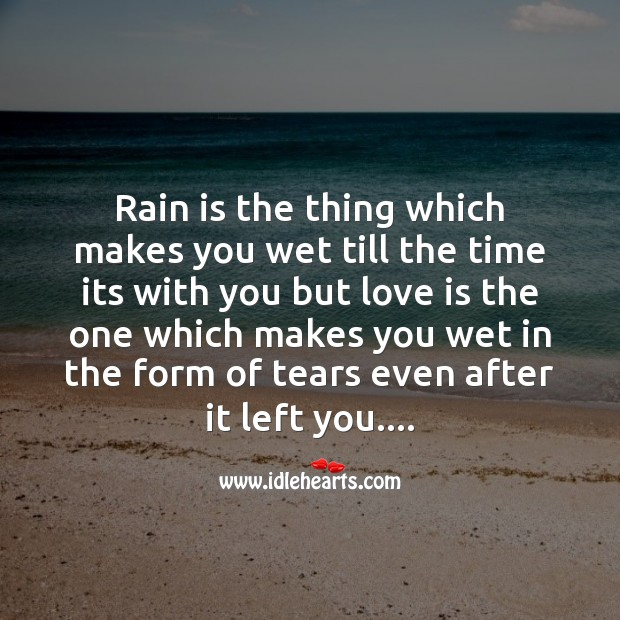 Image about Rain and love