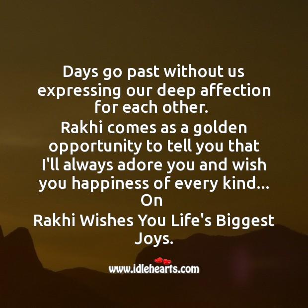 Rakhi wishes you life's biggest joys. Raksha Bandhan Messages Image
