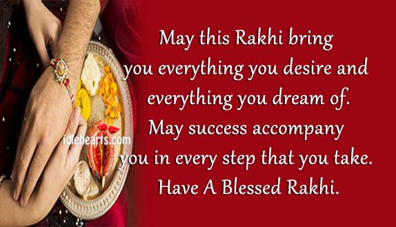 Image, Have a blessed raksha bandhan.