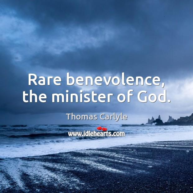 Rare benevolence, the minister of God. Image