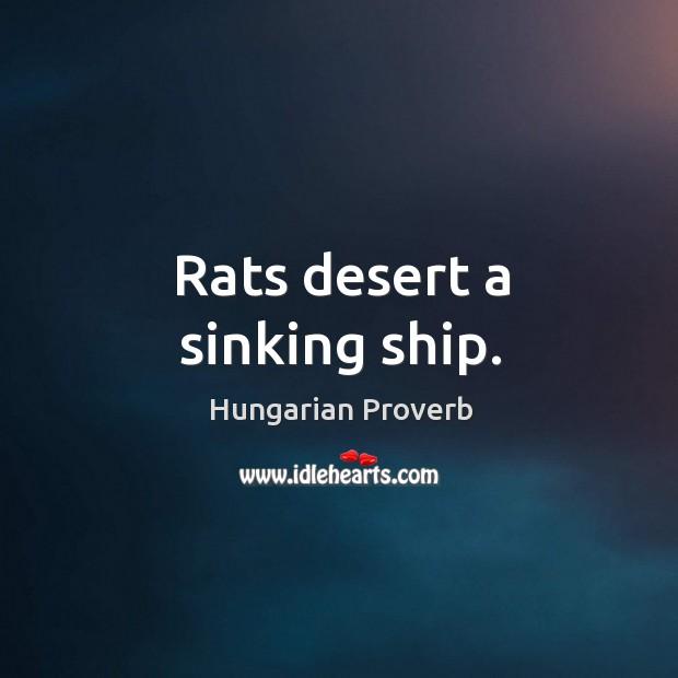 Image, Rats desert a sinking ship.