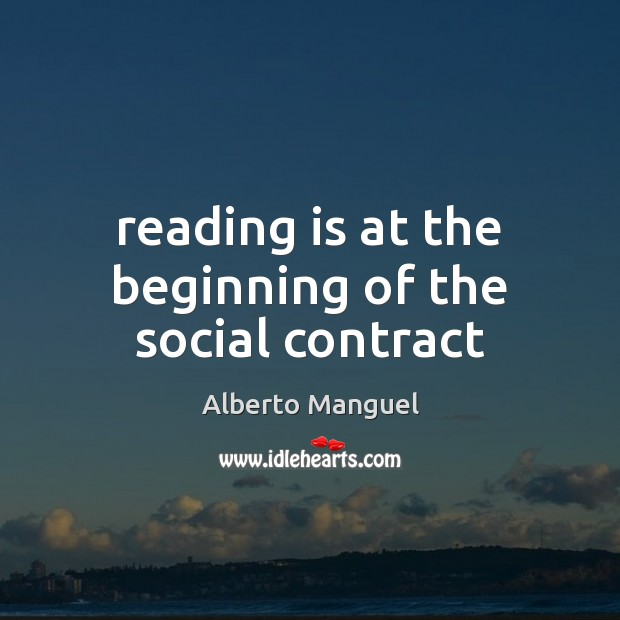 Image, Reading is at the beginning of the social contract