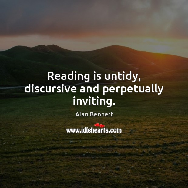 Image, Reading is untidy, discursive and perpetually inviting.