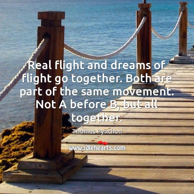 Image, Real flight and dreams of flight go together. Both are part of