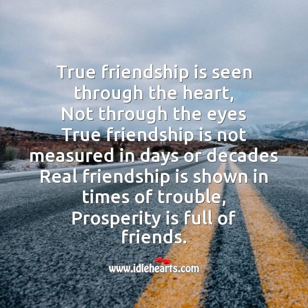 Image, Real friendship is shown in times of trouble