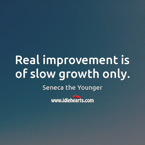 Image, Real improvement is of slow growth only.
