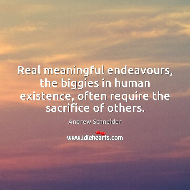Image, Real meaningful endeavours, the biggies in human existence, often require the sacrifice