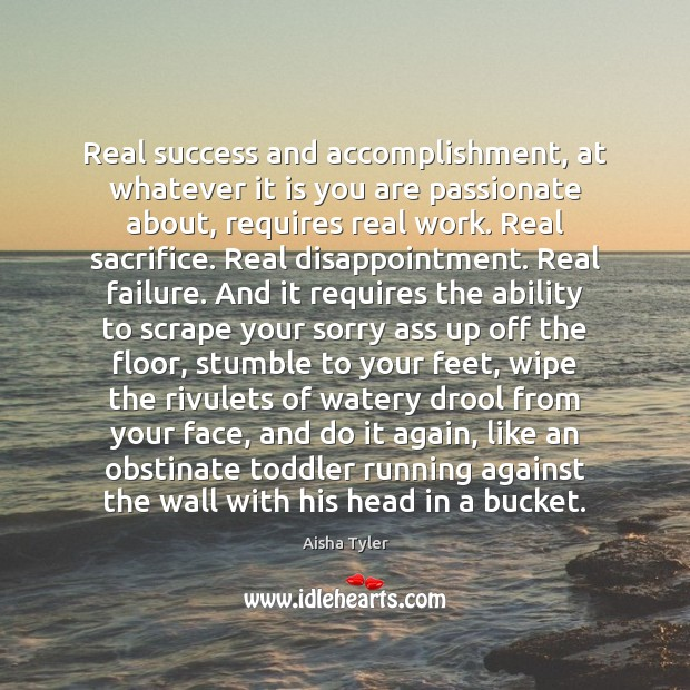 Real success and accomplishment, at whatever it is you are passionate about, Image