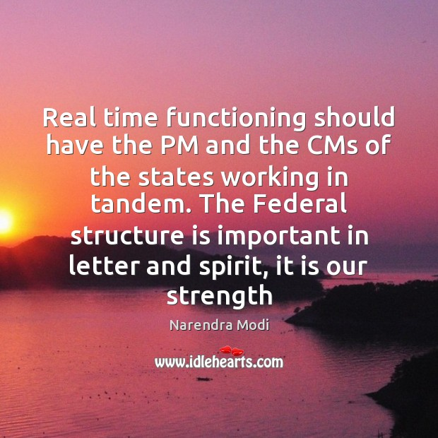 Image, Real time functioning should have the PM and the CMs of the