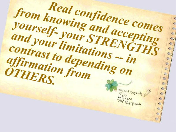 Real Confidence Comes From…