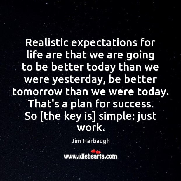 Image, Realistic expectations for life are that we are going to be better