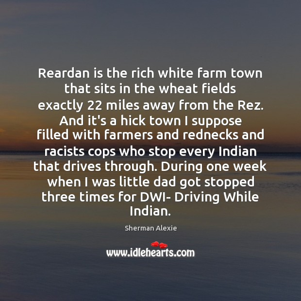 Reardan is the rich white farm town that sits in the wheat Image