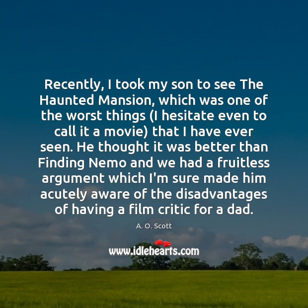 Image, Recently, I took my son to see The Haunted Mansion, which was