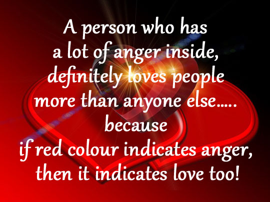 Red colour indicates anger, then it indicates love too! Image