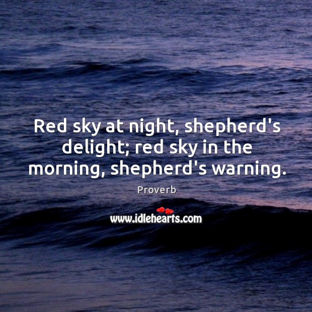 Red sky at night, shepherd's delight Image