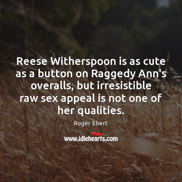 Image, Reese Witherspoon is as cute as a button on Raggedy Ann's overalls,