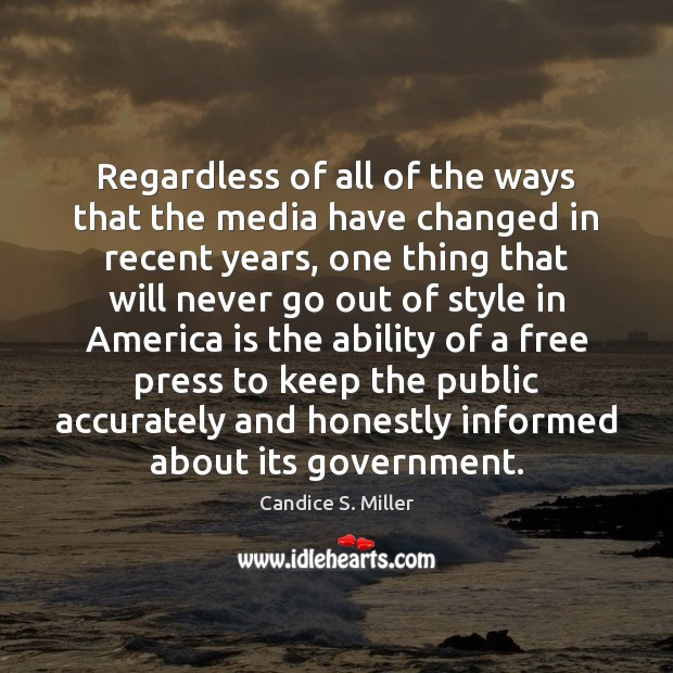 Image, Regardless of all of the ways that the media have changed in