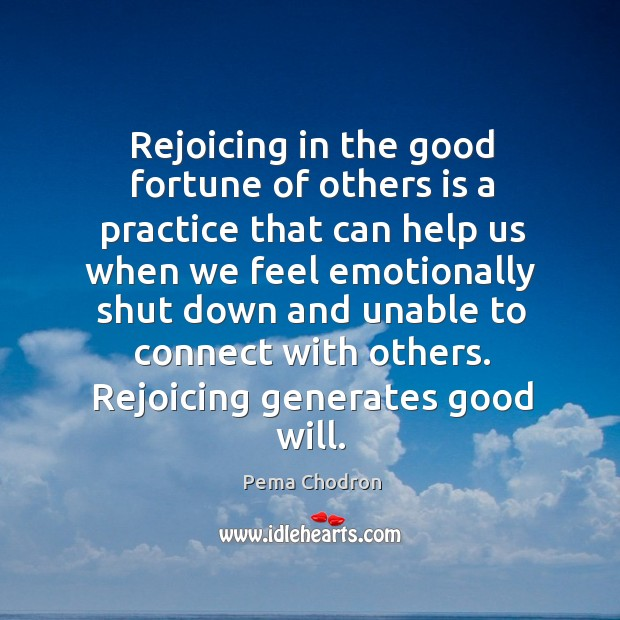 Image, Rejoicing in the good fortune of others is a practice that can