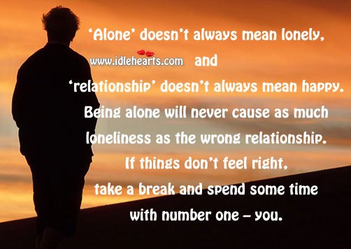 Relationship doesnt always mean happy Image