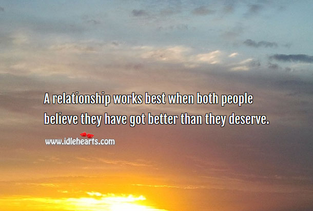 Image, A relationship works best when both people believe