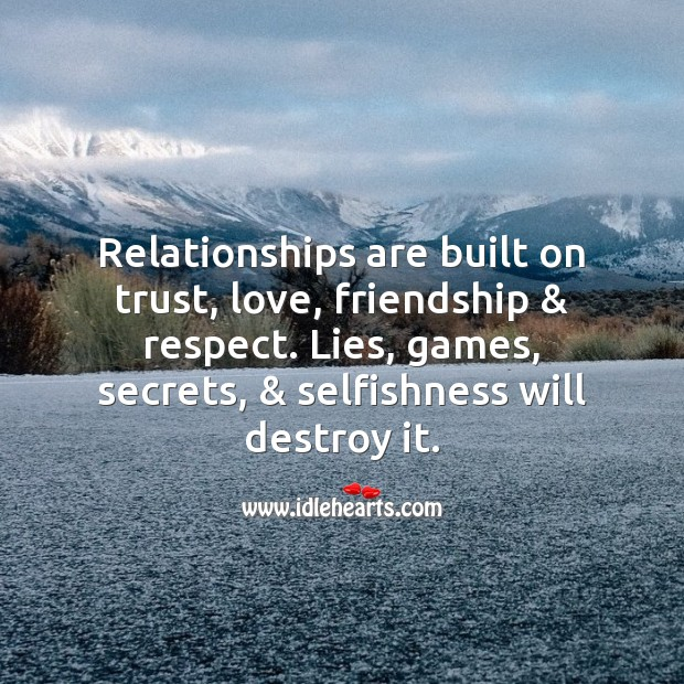 Image, Relationships are built on trust.
