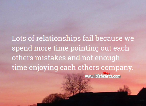 Image, Relationships fail because