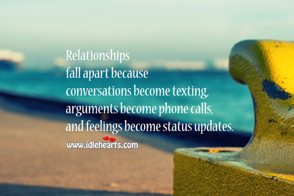 Image, Relationships fall apart because