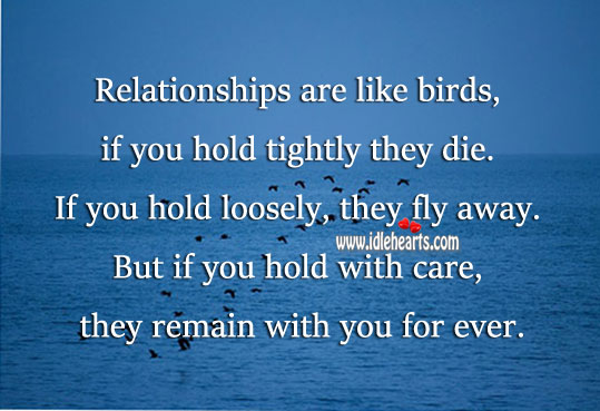 Relationships remain with you for ever, if you care. Image