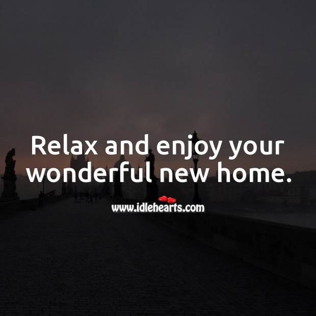 Relax and enjoy your wonderful new home. Image