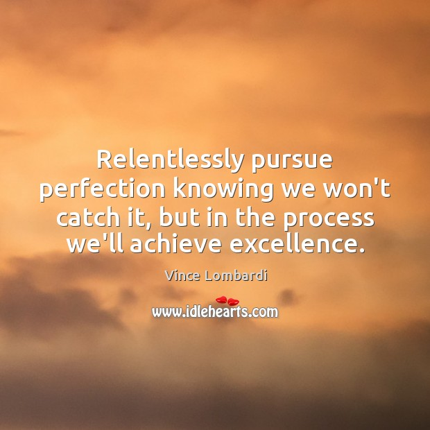 Image, Relentlessly pursue perfection knowing we won't catch it, but in the process