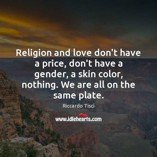 Religion and love don't have a price, don't have a gender, a Image