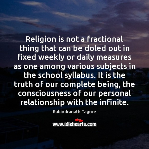 Image, Religion is not a fractional thing that can be doled out in
