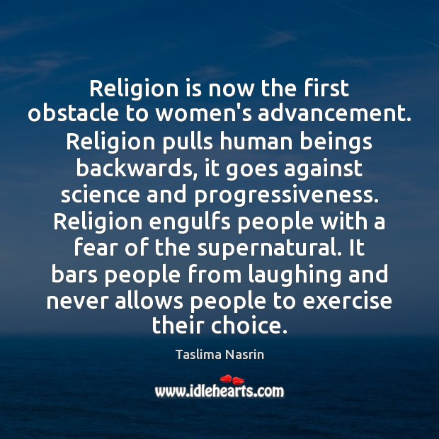 Image, Religion is now the first obstacle to women's advancement. Religion pulls human