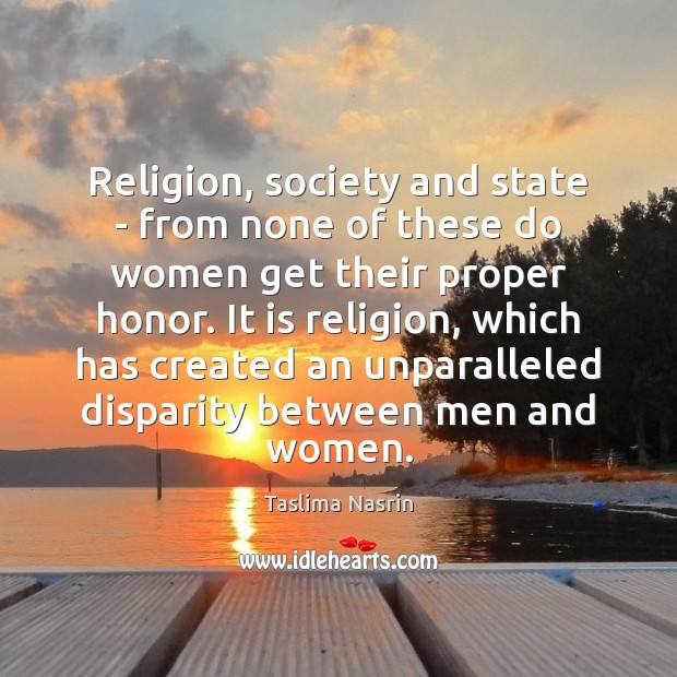 Image, Religion, society and state – from none of these do women get