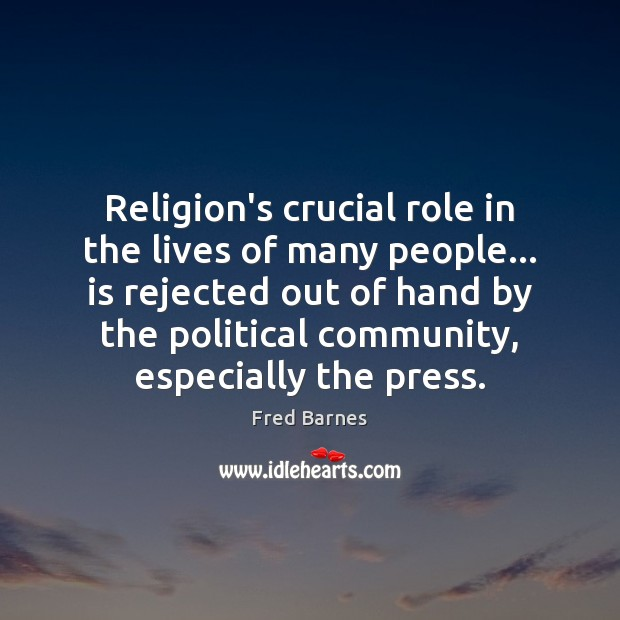 Religion's crucial role in the lives of many people… is rejected out Image
