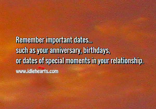 Remember important dates in your relationship Relationship Tips Image
