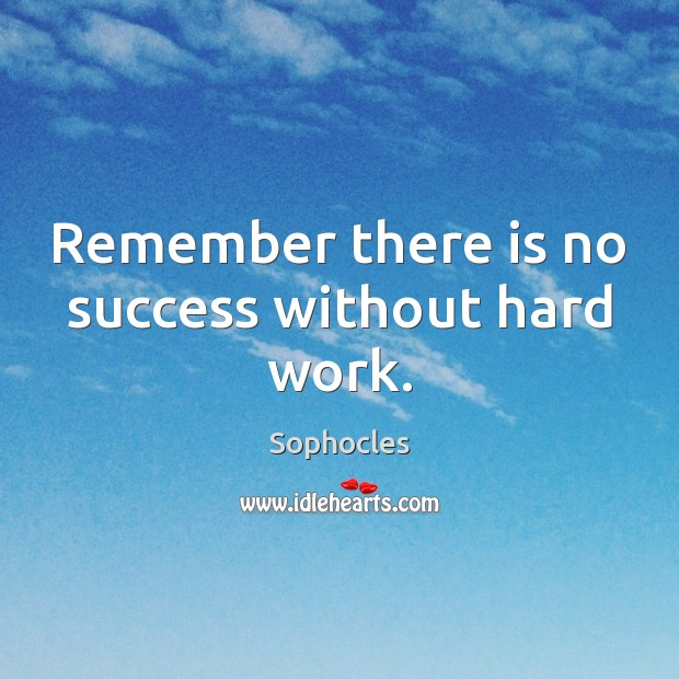 Image, Remember there is no success without hard work.