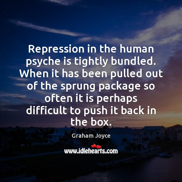 Repression in the human psyche is tightly bundled. When it has been Image