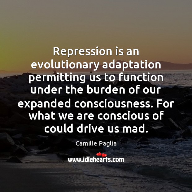 Image, Repression is an evolutionary adaptation permitting us to function under the burden
