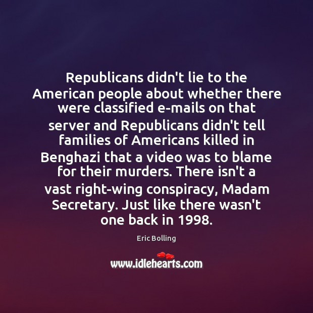 Republicans didn't lie to the American people about whether there were classified Image