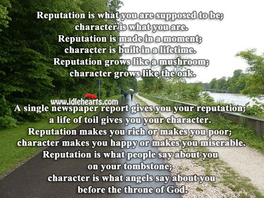 Reputation vs Character
