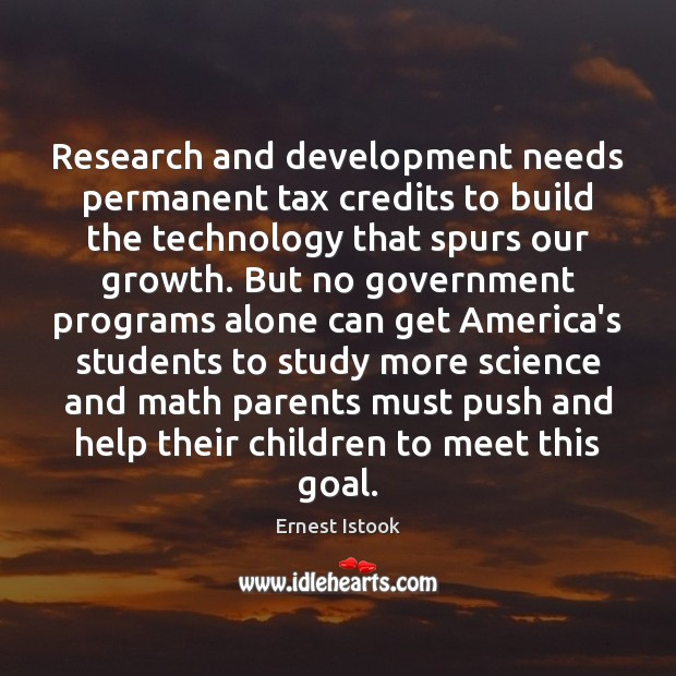 Research and development needs permanent tax credits to build the technology that Image