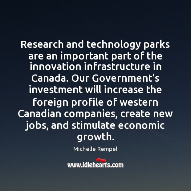 Research and technology parks are an important part of the innovation infrastructure Image