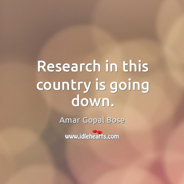Research in this country is going down. Image
